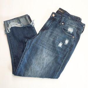 Liverpool Mid Rise Crop Boyfriend Jeans